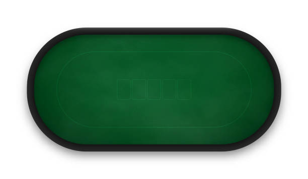 Poker table made of green cloth isolated on white background. Poker table made of green cloth isolated on white background. Realistic vector illustration. poker stock illustrations