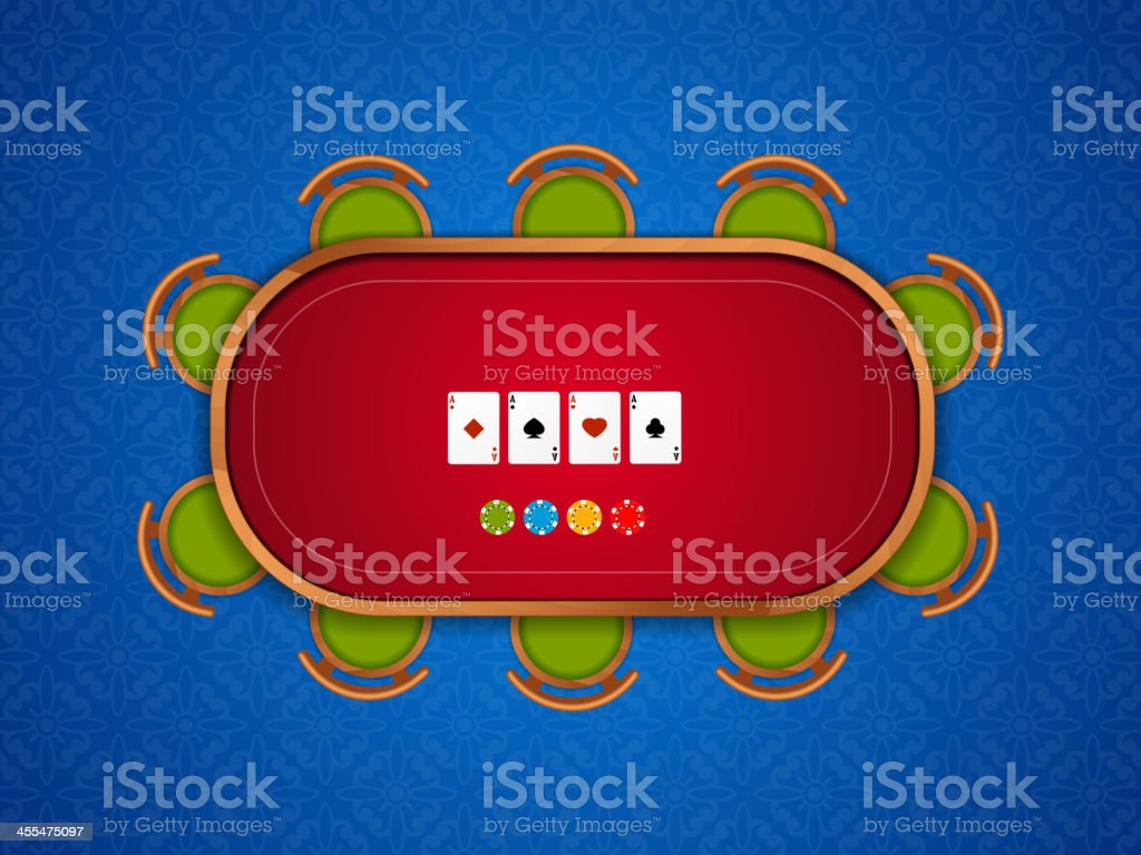 Poker table royalty-free stock vector art