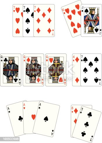 istock Poker Three of a kind 165502698