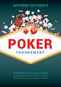 Poster for a poker tournament with gambling theme