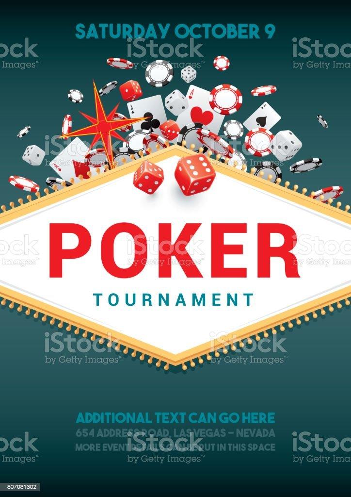 Cartaz do torneio de pôquer - ilustração de arte em vetor