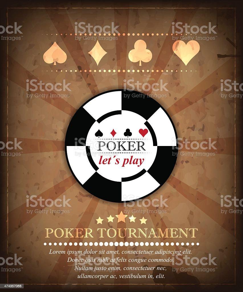Poker tournament vector background. Design 2. vector art illustration