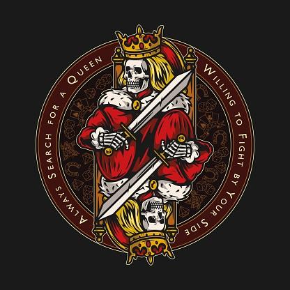 Poker vintage round colorful emblem