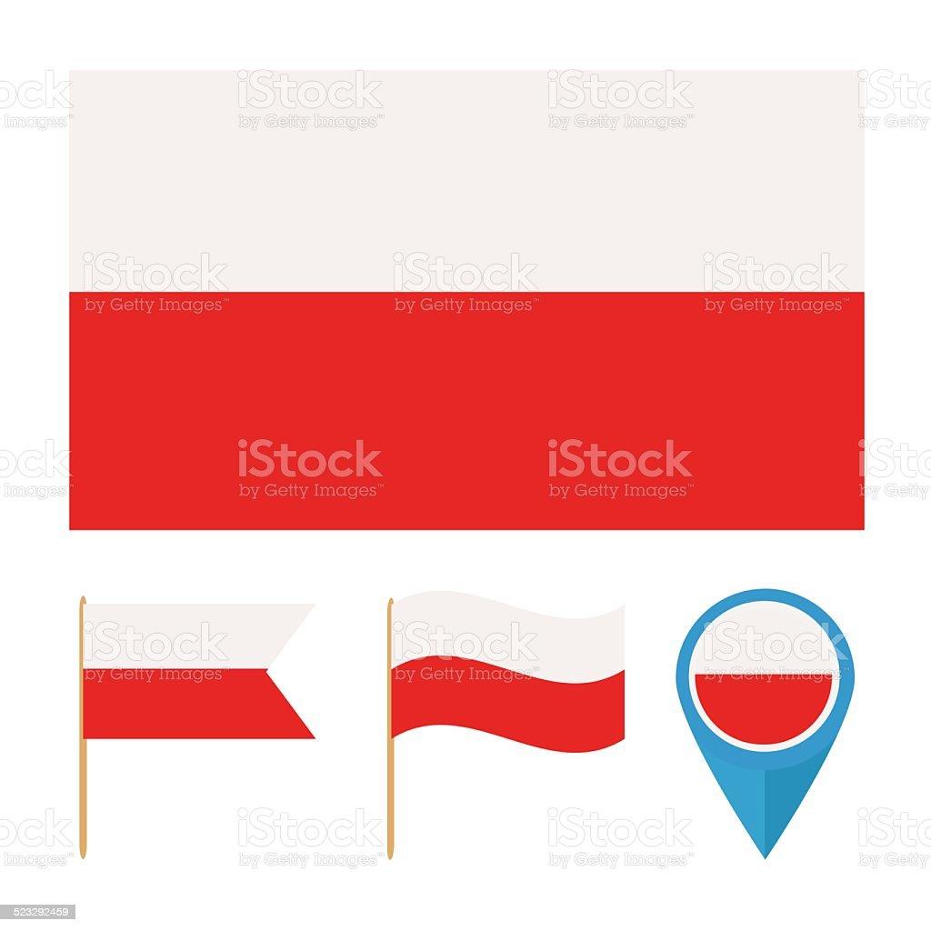 Polen Flagge Vektor – Vektorgrafik