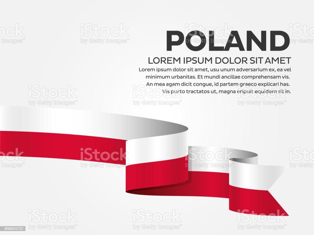 Poland flag background vector art illustration