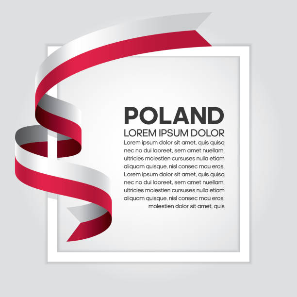 poland flag background - polish flag stock illustrations, clip art, cartoons, & icons