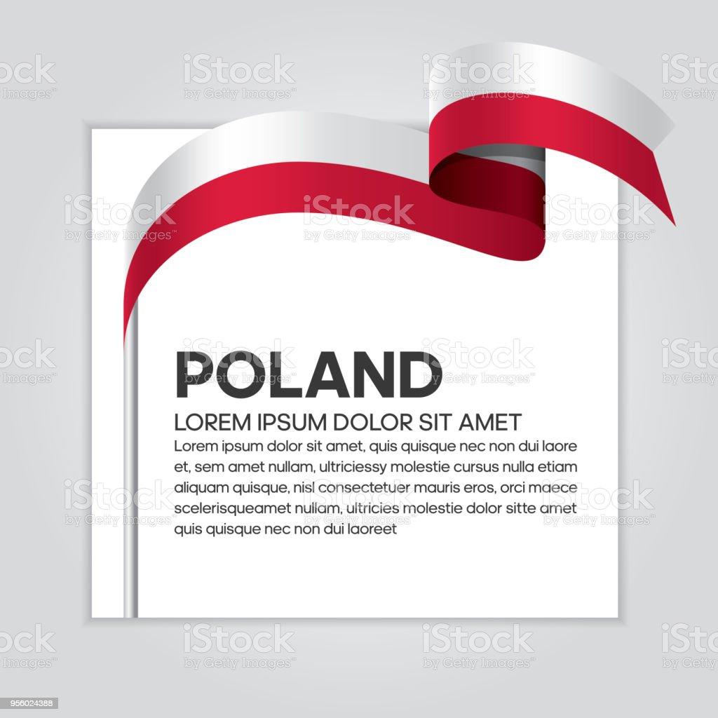Fondo de bandera de Polonia - ilustración de arte vectorial