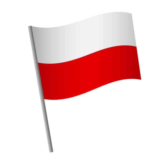 ilustraciones, imágenes clip art, dibujos animados e iconos de stock de icono de la bandera de polonia. - bandera polaca