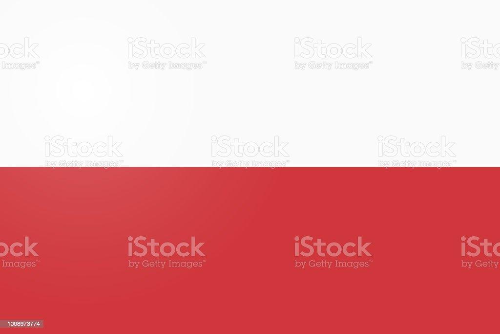 Bandera de Polonia. Oficial de colores y proporción correcta. Bandera Nacional de Polonia. Ilustración de vector de bandera de Polonia. Fondo de vector bandera de Polonia. - ilustración de arte vectorial