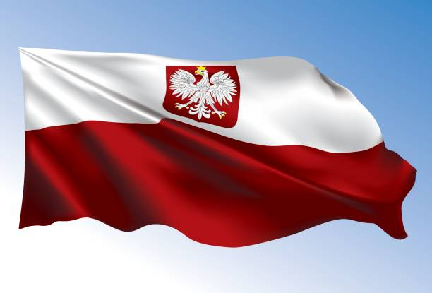 poland flag - polish flag stock illustrations, clip art, cartoons, & icons