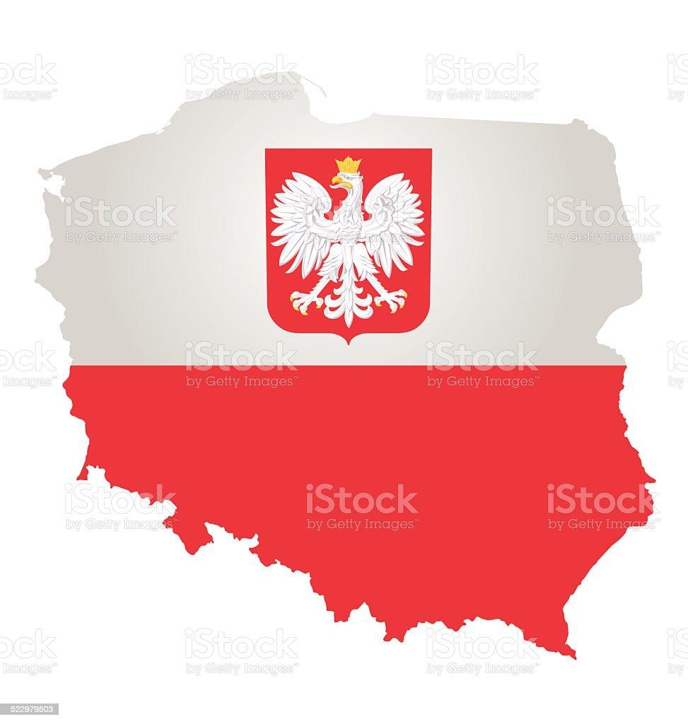 Polen Flagge – Vektorgrafik