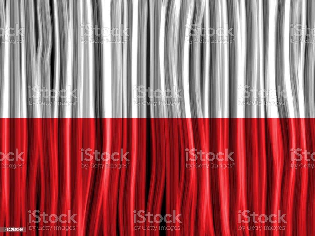 Poland Flag Wave Fabric Texture Background vector art illustration