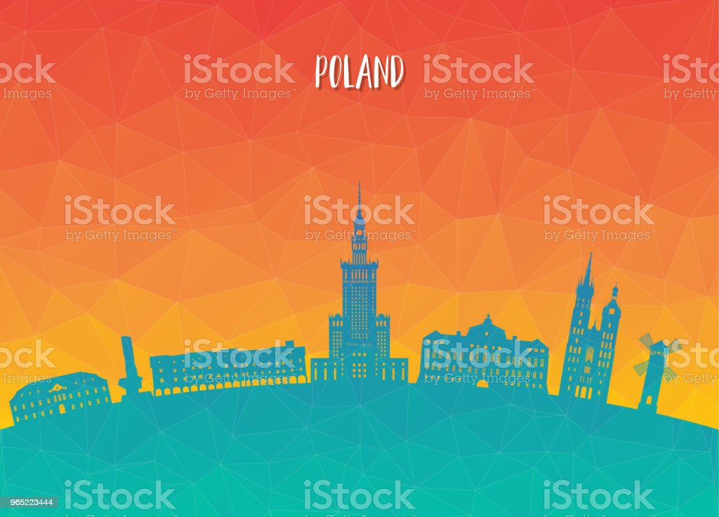 Poland Landmark Global Travel And Journey paper background. Vector Design Template.used for your advertisement, book, banner, template, travel business or presentation. poland landmark global travel and journey paper background vector design templateused for your advertisement book banner template travel business or presentation - stockowe grafiki wektorowe i więcej obrazów architektura royalty-free