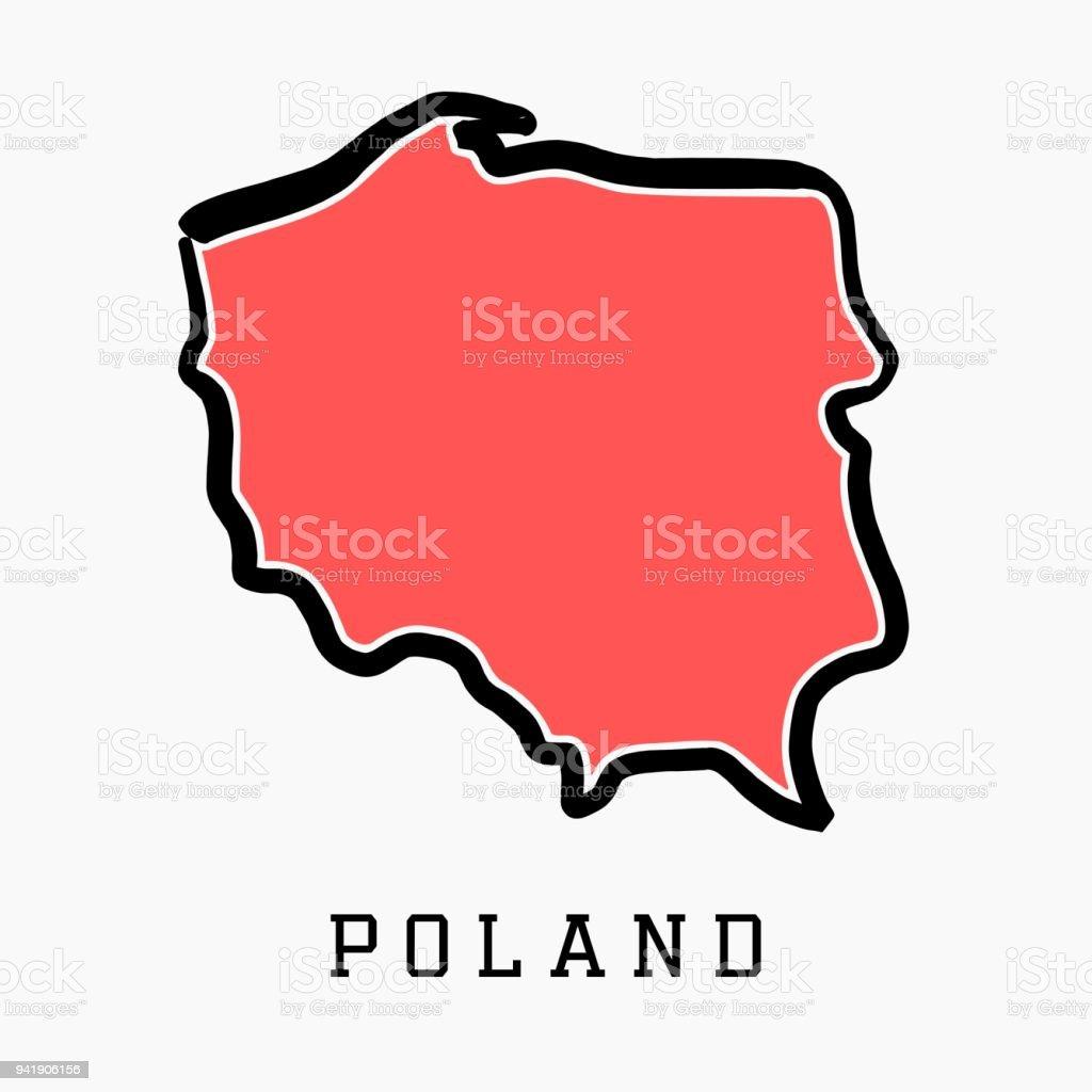 Polen Karte Umriss.Polen Karte Umriss Stock Vektor Art Und Mehr Bilder Von