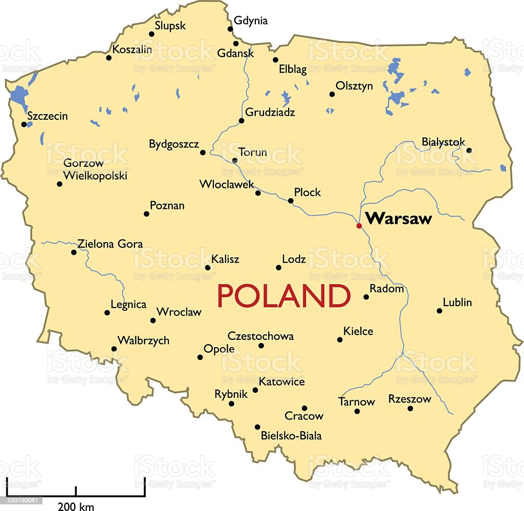 Poland Map Stock Vector Art More Images Of IStock - Poland map
