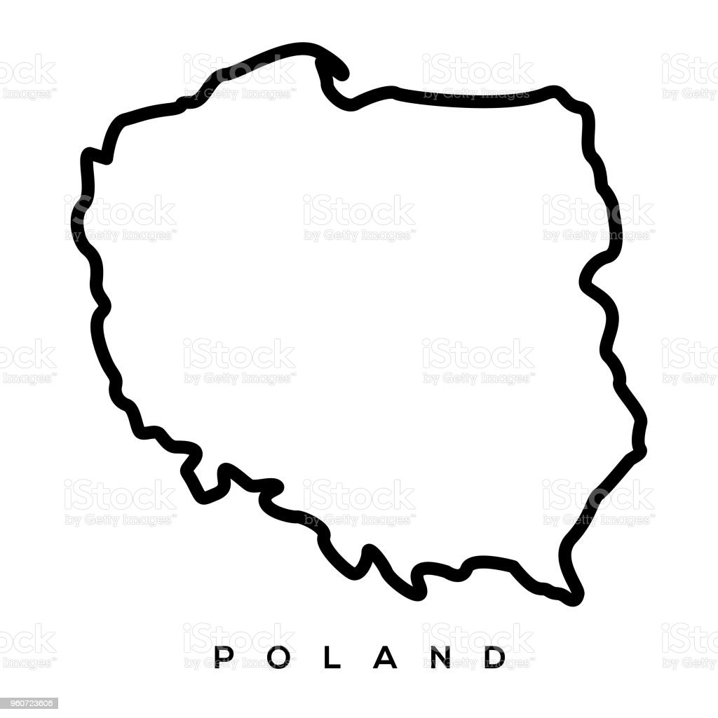 Poland map vector art illustration