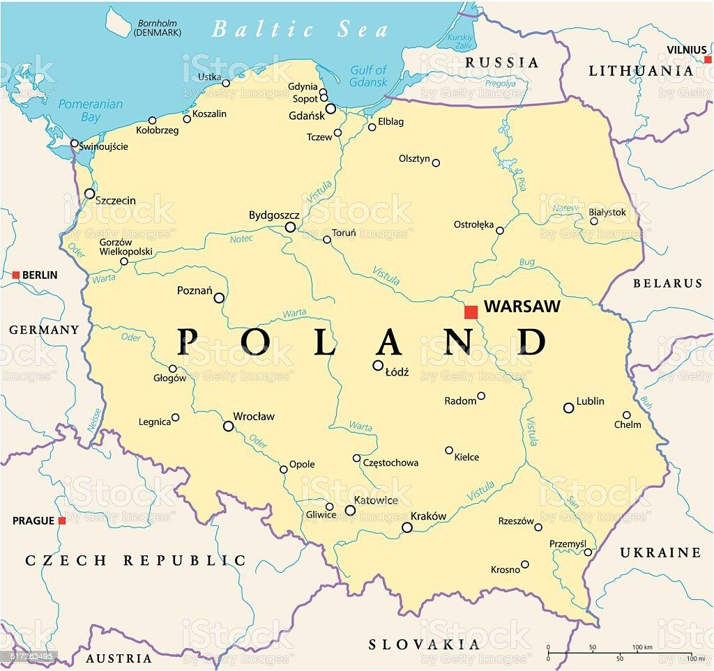 breslau karte Politische Karte Polen Stock Vektor Art und mehr Bilder von