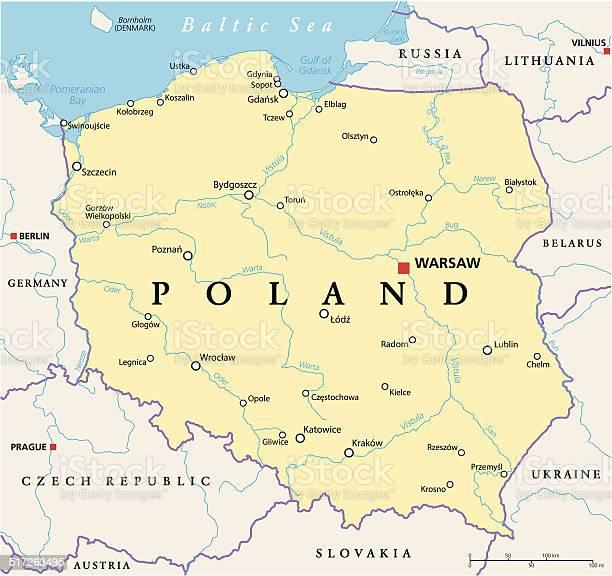 Poland Political Map Stockvectorkunst en meer beelden van Bydgoszcz