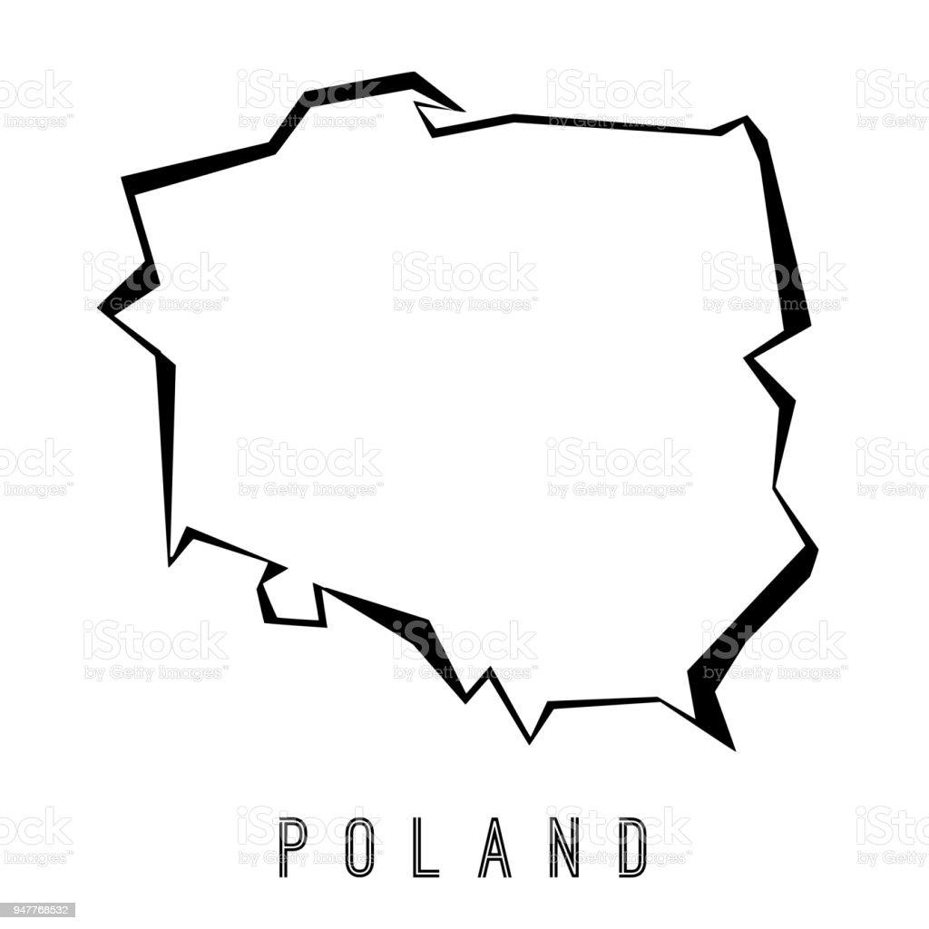 Polen Karte Umriss.Polygonale Karte Polen Stock Vektor Art Und Mehr Bilder Von