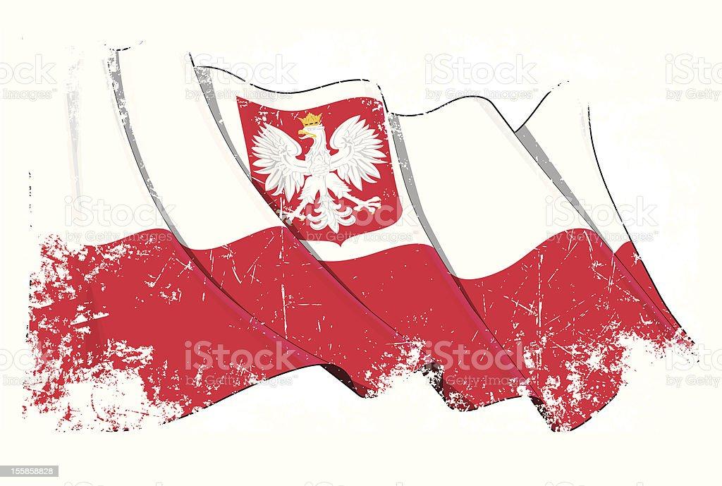 Polen-Flagge Grunge – Vektorgrafik