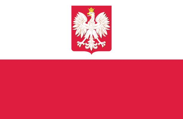 poland - polish flag stock illustrations, clip art, cartoons, & icons