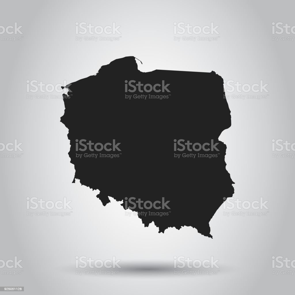 Poland vector map black icon on white background stock vector art poland vector map black icon on white background royalty free poland vector map gumiabroncs Images