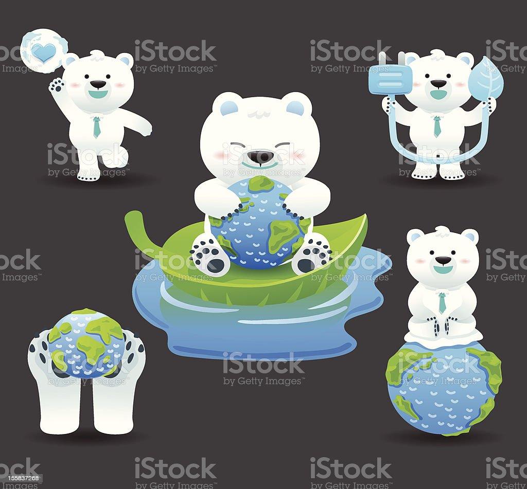 polar bear & ECO vector art illustration