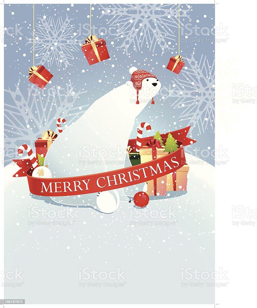 Polar bear card royalty-free stock vector art