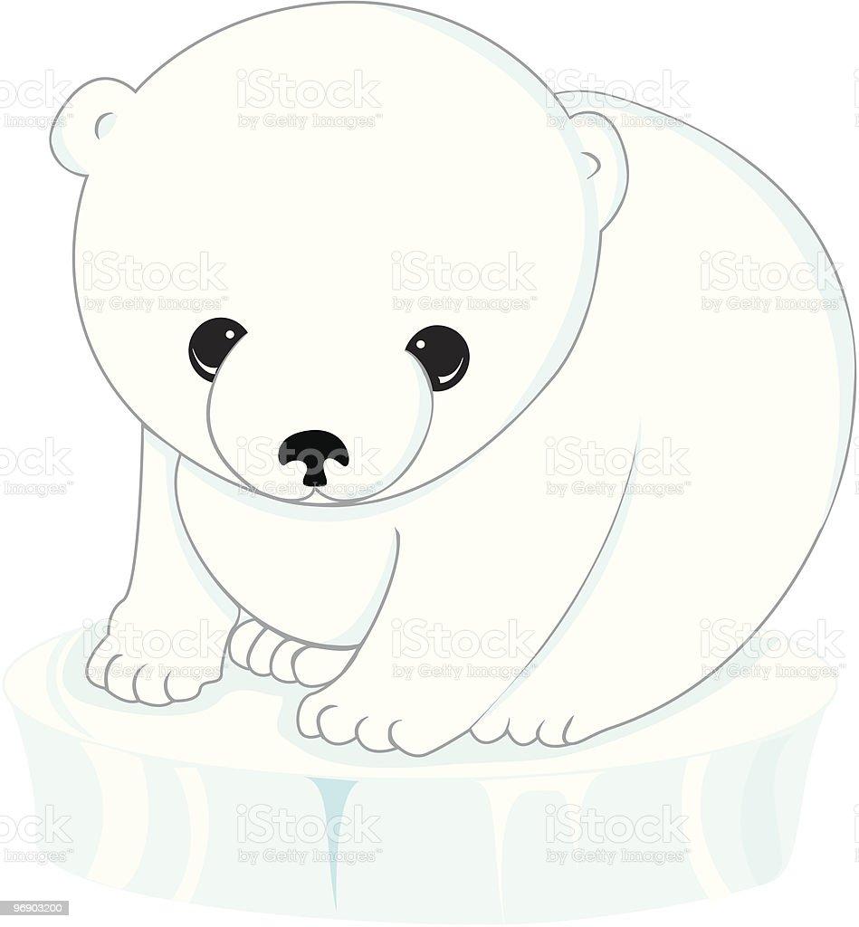 polar bear cub on ice royalty-free polar bear cub on ice stock vector art & more images of aggression