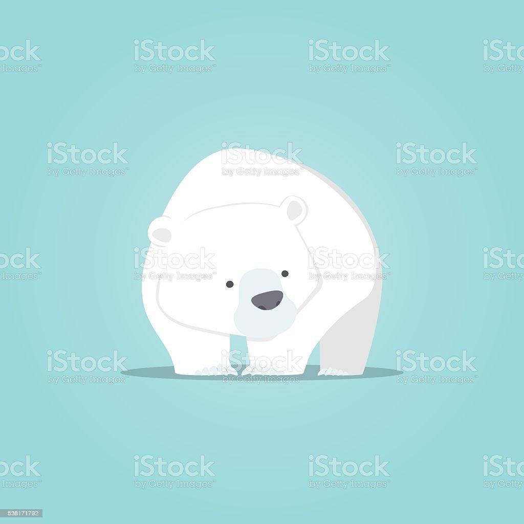 Polar bear cute cartoon, Polar bear cute character design vector art illustration