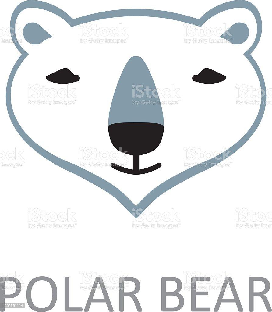 Polar bear face design template stock vector art more images of polar bear face design template royalty free polar bear face design template stock maxwellsz