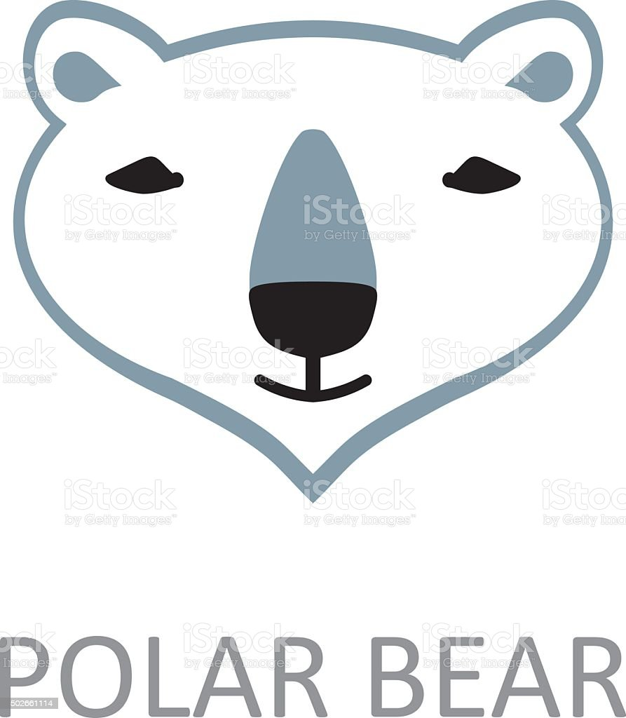 polar bear face design template stock vector art more images of