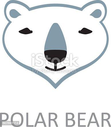 Polar Bear Face Design Template Stock Vector Art & More Images of ...