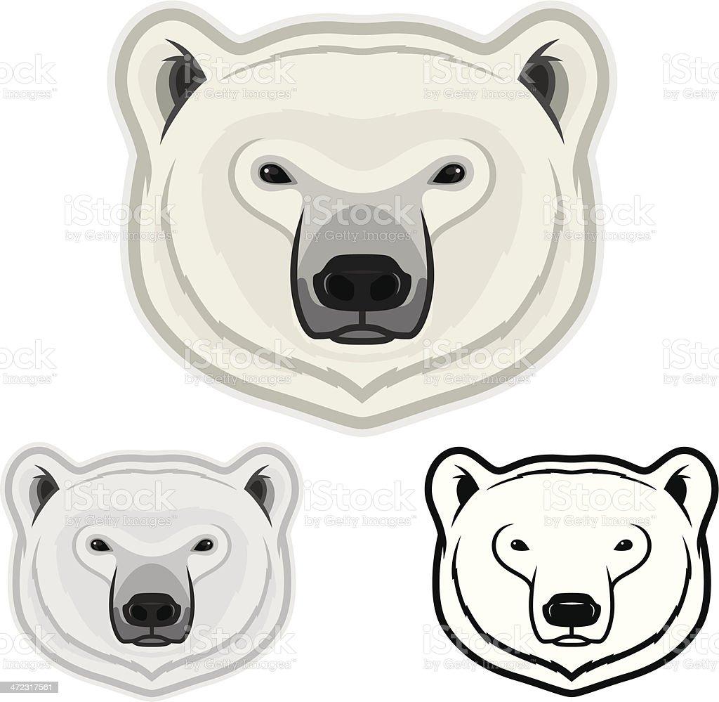Polar Bear Face royalty-free stock vector art