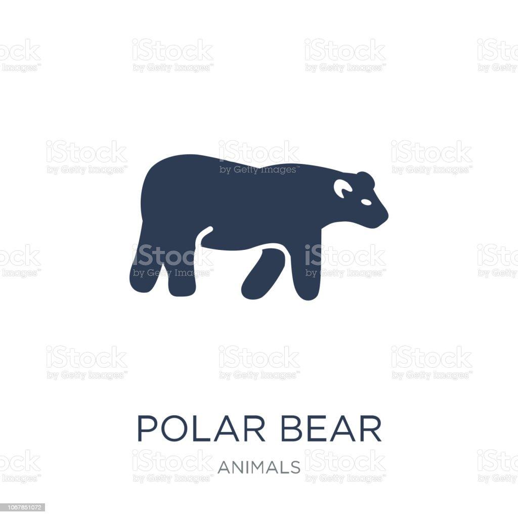 Polar bear icon. Trendy flat vector Polar bear icon on white...