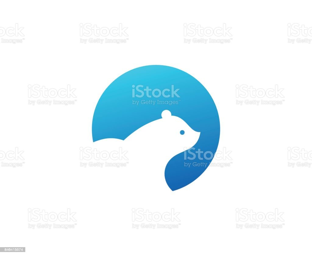 Polar bear icon vector art illustration