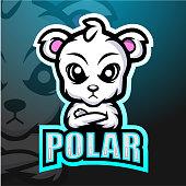 Vector Illustration of Polar bear mascot esport logo design