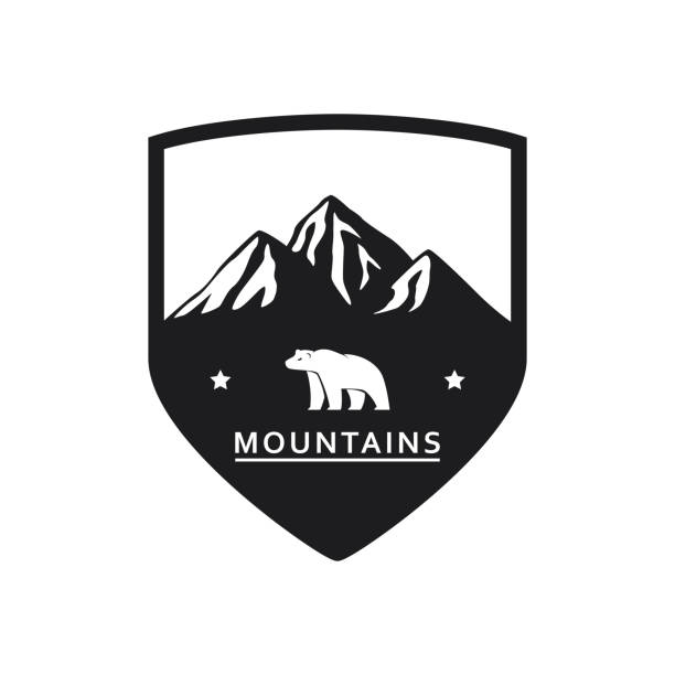 Polar Bear Mountain Symbol – Vektorgrafik