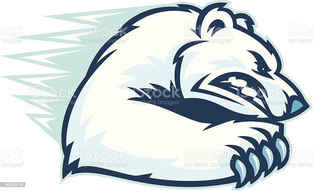 Polar Bear Scratch. vector art illustration