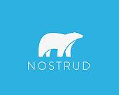 istock Polar bear sign. Animal vector symbol icon 1127969593