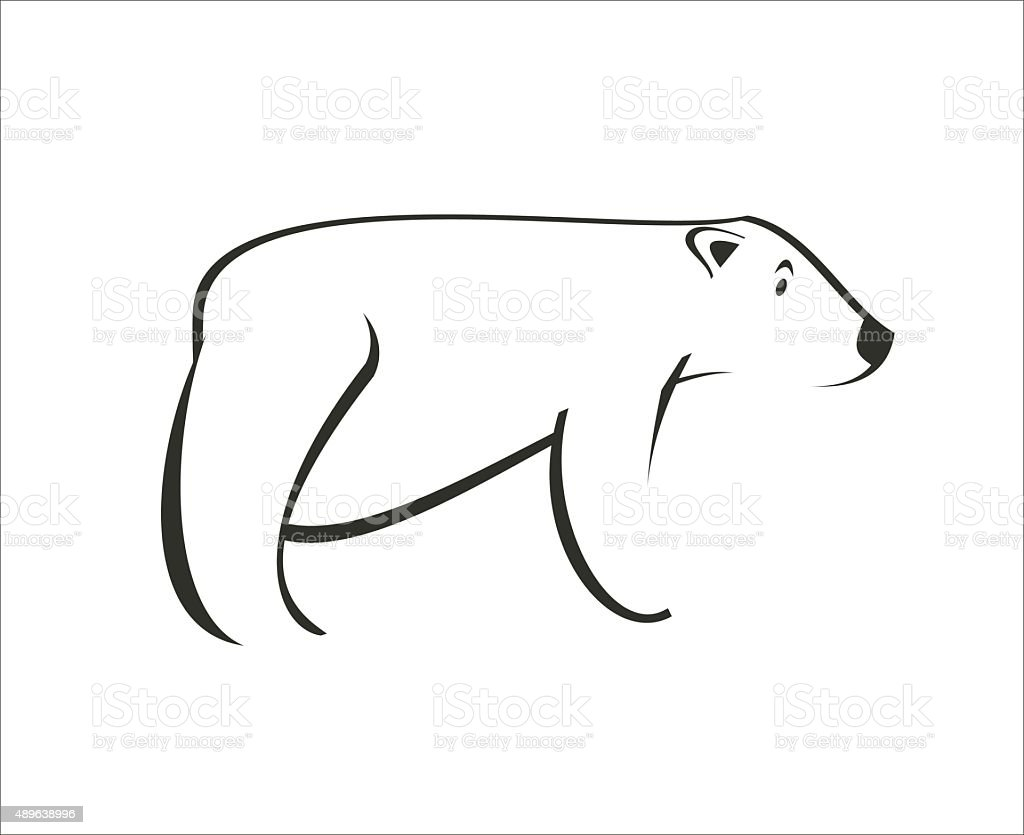 polar bear simple illustration stock vector art 489638996 istock