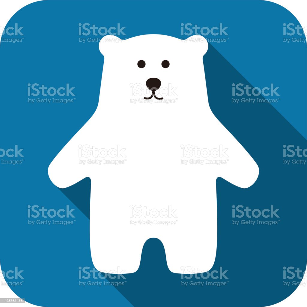Polar bear standing icon design vector art illustration