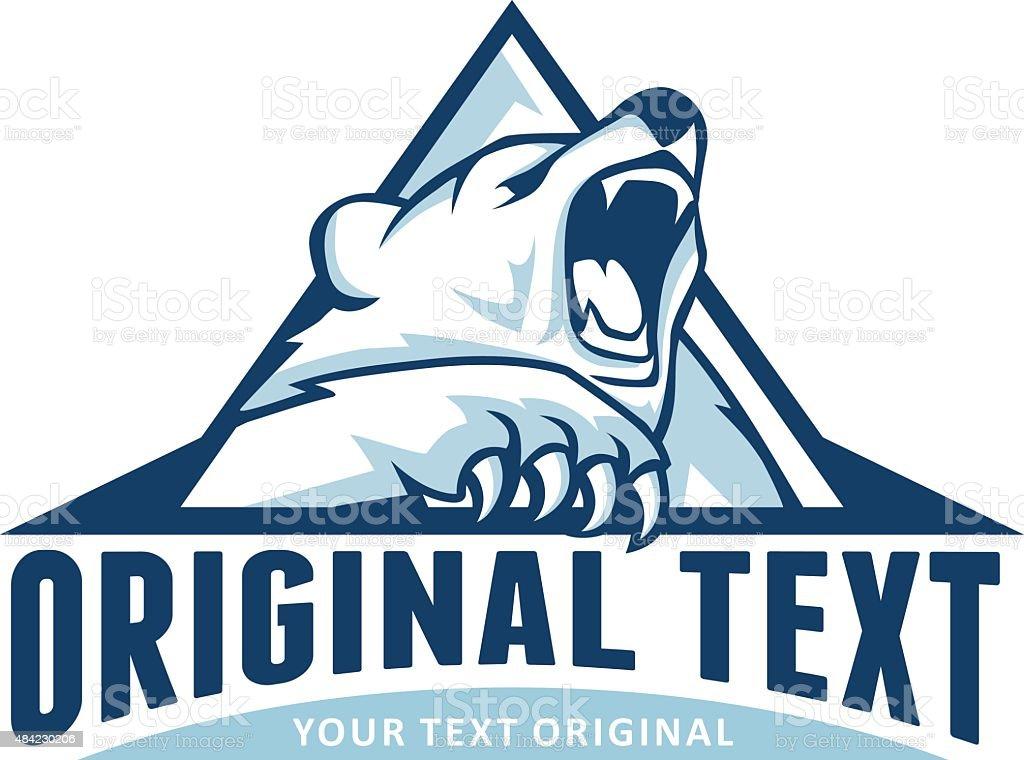 Polar bear triangle vector art illustration