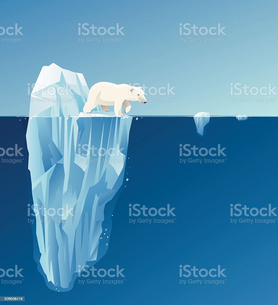 Polar bear vector art illustration