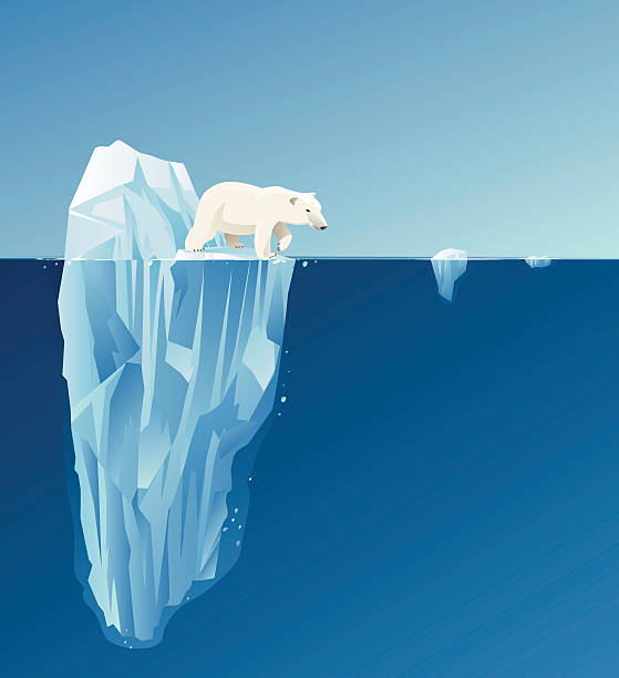 Polar bear Polar bear with background. arctic stock illustrations