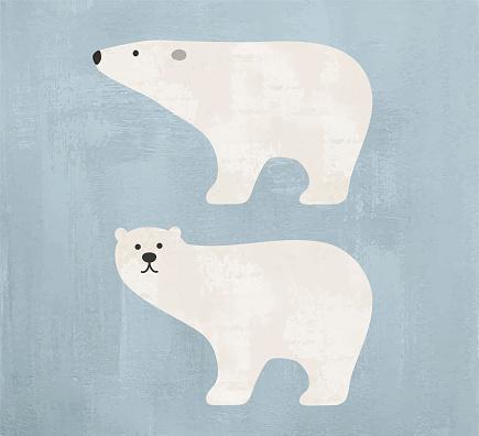 Polar bear watercolor
