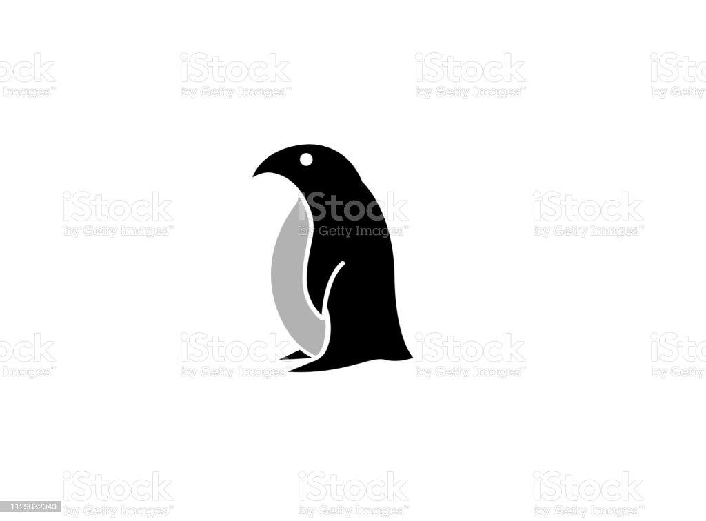Logotipo da polar pinguim preto criativo - ilustração de arte em vetor