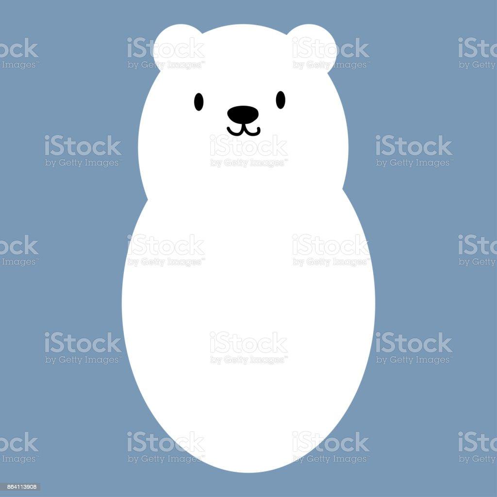 Polar white bear icon symbol royalty-free polar white bear icon symbol stock vector art & more images of animal