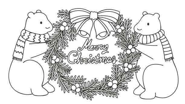 Christmas Images Cartoon Black And White.Best Black And White Christmas Borders Cartoon Illustrations