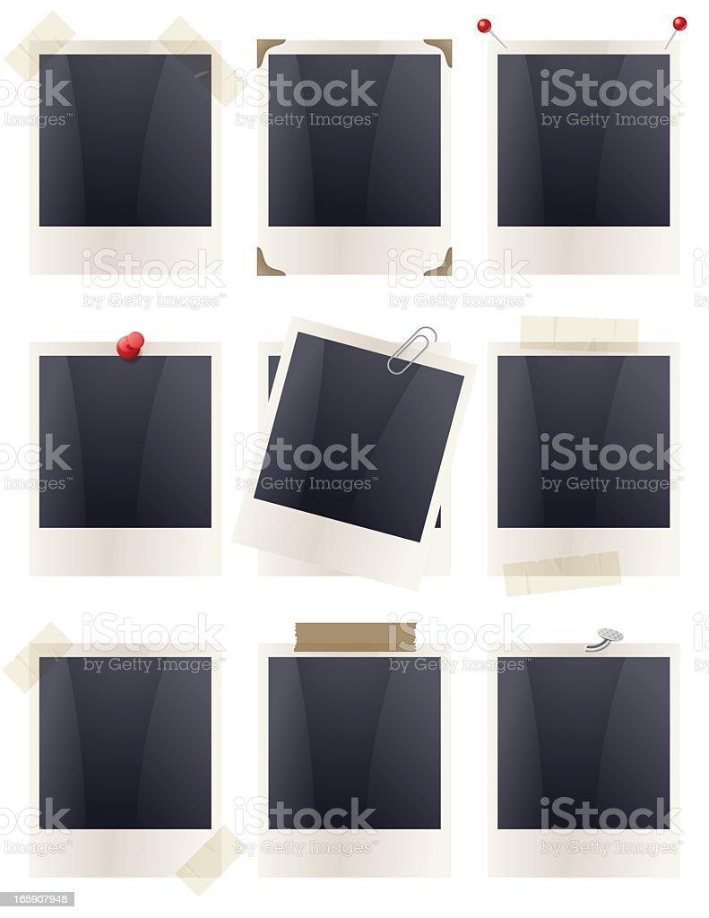 Polaroid Frames - Fixed royalty-free stock vector art